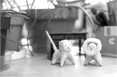蹒跚学步时,他对妈妈的学生为他缝制的小兔子玩具产生了浓厚兴趣.