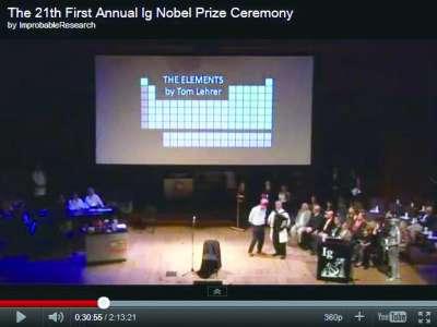 搞笑 诺贝尔奖/典礼开场歌曲:元素周期表之歌