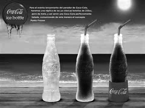 可口可乐推出纯冰可乐瓶